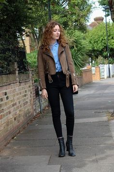 Summer Read - Zara Suede Biker Jacket, Zara Oversize Eyelash Embroidery Shirt, Zara Slim Jeans, Next Vintage Sock Boots - Eyelash Detail