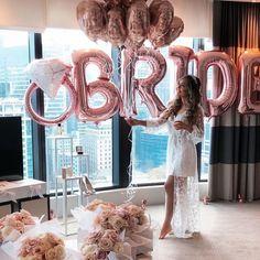 Pre wedding moments Via Bride Shower, Bridal Shower Party, Bridal Shower Decorations, Wedding Parties, Hens Night Decorations, Shower Centerpieces, Balloon Decorations, Wedding Goals, Dream Wedding
