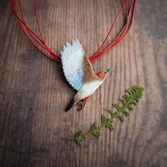 Red-bellied Woodpecker necklace nature by JustynaKrupkowska
