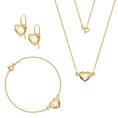 Komplet z serduszkami Swarovski Swarovski, Gold Necklace, Jewelry, Gold Pendant Necklace, Jewlery, Jewerly, Schmuck, Jewels, Jewelery