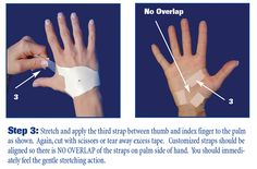 you should immediately feel the gentle stretching action of the carpal solution after correctly applying