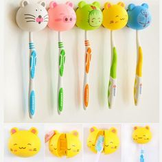 Specification: Material: Plastic Model Number: HG1474 Feature: Eco-Friendly Feature: Stocked Type: Two-piece Weight: 15g Color: Random Package included: 1 x ToothBrush Holder Boho Bathroom, Bathroom Sets, Bathrooms, Cheap Bathroom Accessories, Chopstick Holder, Toothbrush Holders, Cute Cartoon Animals, 3d Cartoon, Stress Relief Toys