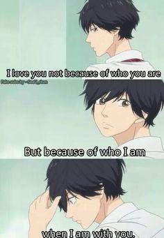 #anime #lovequote #aoharuride true love is like this !!!