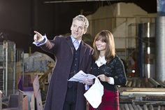 Here's the first image of Peter Capaldi as The Twelfth Doctor from his first full day of filming.