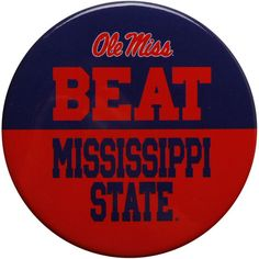 Ole Miss Rebels Rivalry Button Pin  - - $2.99