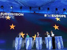 Steht hier bereits der nächste EU-Kommissionspräsident? TV-Debatte der Spitzenkandidaten für die Europawahl http://www.deutschlandfunk.de/nach-den-europawahlen-wie-geht-es-in-bruessel-weiter.724.de.html?dram:article_id=287517