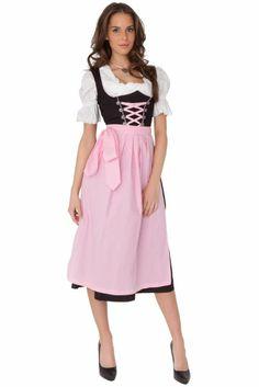 Amazon.com: Dirndl Womens 3-Piece Black Dirndl with Pink Apron: Clothing $99.99