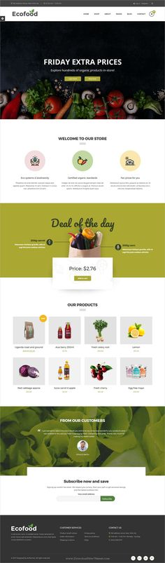 Ecofood is clean and modern design 4in1 responsive #WordPress theme for #organic store and farms #eCommerce website download now..