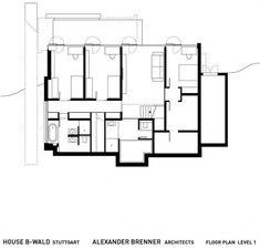 House B-Wald by Alexander Brenner Architekten Office Ceiling Design, Residential Architecture, House Floor Plans, Second Floor, House Design, Flooring, How To Plan, Interior Design, Modern