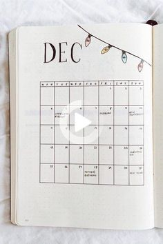 Wether you're just starting or you have a full year of bullet journaling under your belt, these December monthly spread ideas will help you finish strong! #bulletjournal #bulletjournalpages Bullet Journal First Page, December Bullet Journal, Bullet Journal Monthly Spread, Bullet Journal Notebook, Bullet Journal Ideas Pages, Bullet Journal Layout, Bullet Journal Inspiration, Bujo Monthly Spread, Bullet Journals