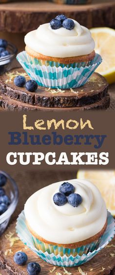 Blueberry Lemon Cupcakes - moist and fluffy cake with delicious cream cheese icing, it's the perfect dessert recipe to celebrate summer and use those fresh berries