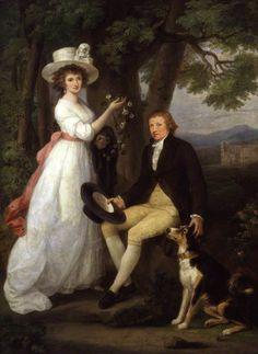 Anna Maria Jenkins; Thomas Jenkins  by Angelica Kauffmann  oil on canvas, 1790