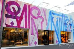Louis Vuitton, Miami's Design District, featuring a mural on the façade painted by graffiti writer, RETNA.