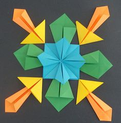27 Marvelous Picture of Origami Art Projects For Kids . Origami Art Projects For Kids Art Paper Scissors Glue Symmetrical Origami 6th Grade Art, Math Art, Origami Paper, Fun Origami, Origami Boxes, Dollar Origami, Origami Bookmark, Origami Flowers, Middle School Art