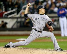 14MLB、ニューヨーク・メッツ(New York Mets)対ニューヨーク・ヤンキース(New York Yankees)。先発登板する田中将大(Masahiro Tanaka、2014年5月14日撮影)。(c)AFP/Getty Images/Elsa ▼15May2014AFP|田中がメジャー初完封で無傷の6勝目、初安打も http://www.afpbb.com/articles/-/3015004 #Masahiro_Tanaka #New_York_Yankees