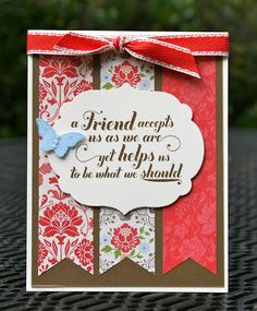 Krystal's Cards: Stampin' Up! Feel Goods Friend #stampinup #krystals_cards #feelgoods #handstamped #papercrafts #cardmaking #stampsomething