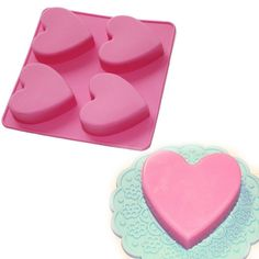 Heart Shape 4-cavity Soap Muffin Cookies Silicone Mold for Homemade DIY, Type: Cake Tools Material: Silicone Feature: Eco-Friendly Certification: CE / EU,CIQ,EEC,FDA,LFGB,SGS Cake Tools Type: Moulds is_customized: Yes  each cell dimension:2.45x2.15x0.7 inch Color: ITEM COLR RANDOMLY SENT(possibly not the same color as pictures),if you dont accept that,please contact us before you bid it.Thank you. Shipping We ship all goods within 72hours upon receipt of payment (except holiday and weekend)…