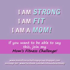 Mom's Who Get Fit Together! Join a Mom's Fitness Challenge group today! The next one starts Nov. 12th. Workout at home with support, motivation, and accountability. Share this with other moms. Let's do this together!!! www.facebook.com/whitehousebeachbody