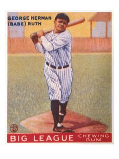 Babe Ruth chewing gum card