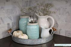 Creative Country Kitchen Decoration Ideas Using Mason Jars 04 - HomeKemiri.com