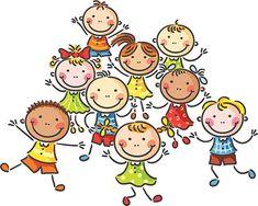 Illustration Featuring Happy Energetic Kids On arkistovektori (rojaltivapaa) 111101525 Happy Cartoon, Cartoon Kids, Drawing For Kids, Art For Kids, Stick Art, Kids Vector, Cute Quilts, Cartoon Sketches, Sketch Notes