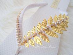 Greek Sandals. gold flip flops. Greek gold leaves wedding flip flops. gold beach flip flops -Greek Collection- mdw-0006