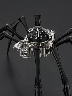 La Cote des Montres : MB&F Arachnophobia - araignée, horloge de table et horloge murale - Donner l'heure avec deux aiguilles et huit pattes