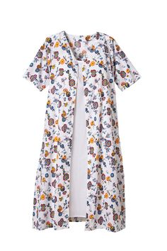 e6a7416c67 Floral Print Nightgown and Nightie Set  The bold floral nightgown has a  snap front that