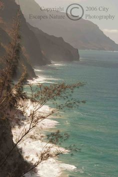 Limited Edition Nature Art Print. Na Pali Coast from the Kalalau Trail -- Hawaii. Landscape photograph:  Coastlines, Kauai, Hawaii, Na Pali, Coastline, Coast, Kalalau