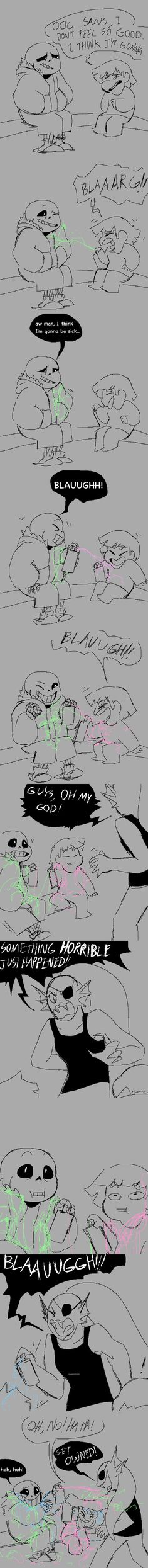 Sans, Frisk, and Undyne - comic