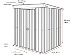 PME Sheds & Outdoor Storage - Metal Sheds and More / pmemetalsheds.com: PME Metal Garden Sheds Pent Roof Freeing Extra Sto...