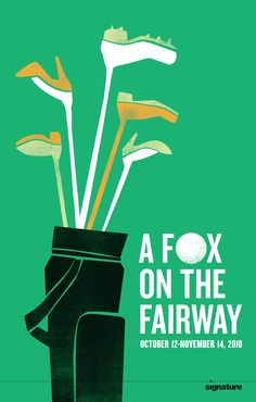 ★ DESIGN ARMY – A Fox on the Fairway (Poster and Illustration) © Design Army LLC