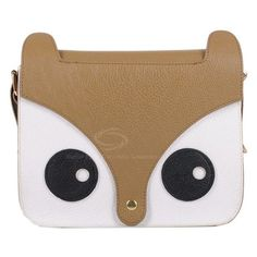 Cute Laconic Women's Cross-Body Bag With Color Matching Fox... - Polyvore