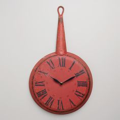 Red Frying Pan Clock | World Market Its possible i just like it bc it's nostalgic for me.