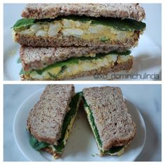 simple lunch sandwich: ezekiel bread, spinach, hard boiled eggs ( nayonaise & red chili flakes) - @xo_dominichulinda- #webstagram