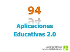 94-aplicaciones-educativas-20 by Anna García Sans via Slideshare