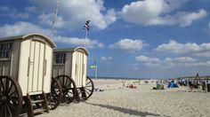 Die Badewagen sind typisch für Norderney