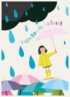 Esperando la lluvia by Miguel Dipietri, via Behance. Rainy day.