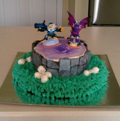Skylander birthday cake without fondant!