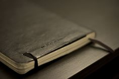 Moleskin - this is my dads favorite notebook. :)