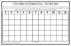 Here's a sheet for recording and graphing the results of rolling 2 dice.