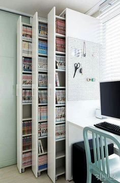 craft storage ideas for small spaces - craft storage ; craft storage ideas for small spaces ; Room Interior, Interior Design Living Room, Interior Office, Studio Interior, Apartment Interior, Interior Ideas, Interior Design Books, Apartment Design, Kitchen Interior