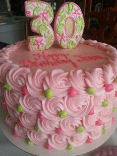 Lilying Pulitzer 30th birthday cake...