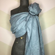 A personal favorite from my Etsy shop https://www.etsy.com/ca/listing/266930332/grey-storm-linen-ring-sling-with-black