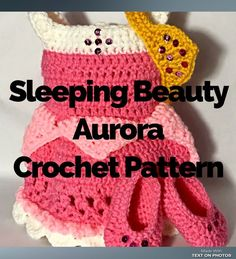 Her name is Aurora. Why is that so hard for people to remember? And if you do call her Aurora, no one knows who you are talking about. Just one of my pet peeves I guess. I know it doesnR… Crochet Princess, Crochet Girls, Newborn Crochet, Cute Crochet, Crochet For Kids, Easy Crochet, Crochet Beanie, Crochet Baby Costumes, Crochet Doll Clothes