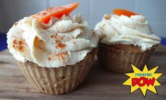 Carrot Cake Protein Cupcakes Recipe (Gluten & Dairy Free) gluten free carrot cake protein cupcake recipe from Protein Pow. Ingredients: 1 cup vanilla (or plain) brown rice protein cup quinoa flakes cup gluten-free oats (or buckwheat) 1 cup egg white Protein Cupcakes, Healthy Chocolate Cupcakes, Chocolate Carrot Cake, Protein Muffins, Chocolate Protein, Protein Pow, Protein Foods, Protein Recipes, Healthy Recipes