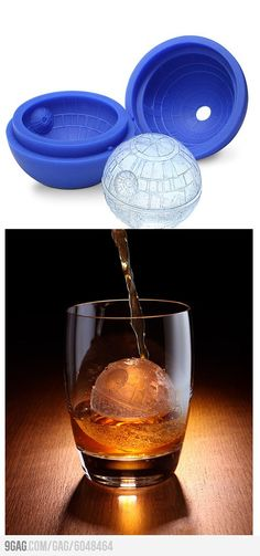 Death Star Ice Cube Mold - I know a few people that would love this! #Ice_Mold #Death_Star