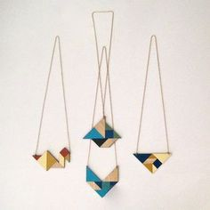 Tangram necklace | Boat