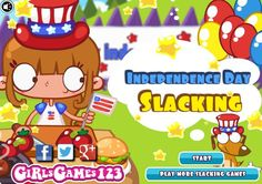 Happy 4th of July! #independenceday  Game's link: http://www.girlgames4u.com/independence-day-slacking-game.html ***