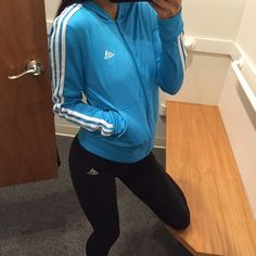 TODAY ONLY  Small blue adidas zip up jacket Like new condition. This is one of my fav jackets! So cute on! firm price❤️ All items bought ships the same day or the next day at the latest. ❤️ Make an offer through the offer button only please ❤️All items are in great like new condition unless stated otherwise. ❌No trades and I only sell on poshmark Adidas Jackets & Coats